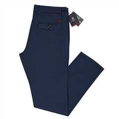 Mid Blue - Modern Slim Fit Chinos by Marco Capelli