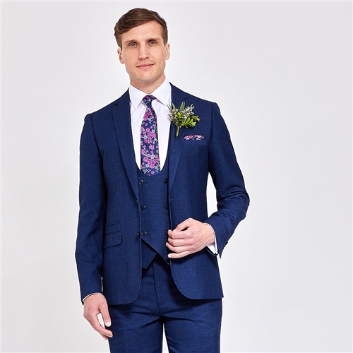 Marco Capelli Blue - 3 Piece Slim Fit Suit  - Click to view a larger image