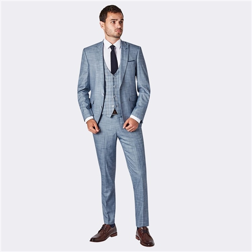 Remus Uomo Blue - Luciano  3-Piece Slim Fit Suit  - Click to view a larger image