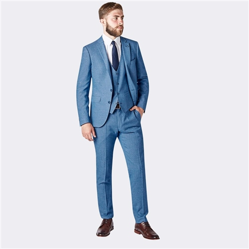 Remus Uomo Blue - Luca 3 Piece Slim Fit Suit  - Click to view a larger image