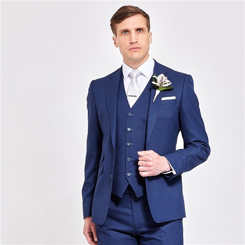 Herbie Frogg Navy - Structure 3 Piece Suit  - Click to view a larger image