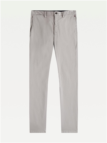 Tommy Hilfiger Silver - Denton Stretch Satin Chinos  - Click to view a larger image