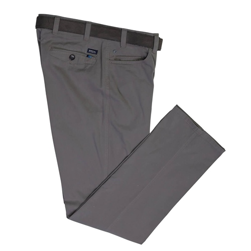 Bruhl Grey - Dover Pima Stretch Trousers  - Click to view a larger image