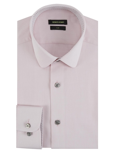 Remus Uomo Pink - Slim Fit Cotton Shirt  - Click to view a larger image