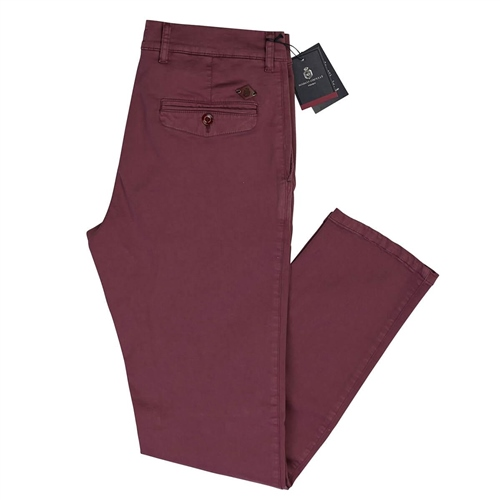 Marco Capelli Berry - Super Stretch Chinos  - Click to view a larger image