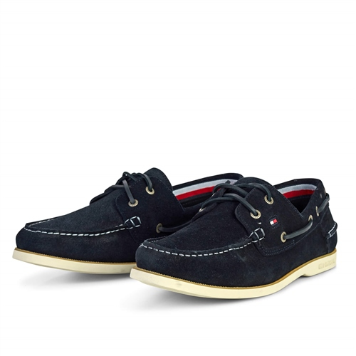 Tommy Hilfiger Navy - Classic Suede Boatshoe  - Click to view a larger image