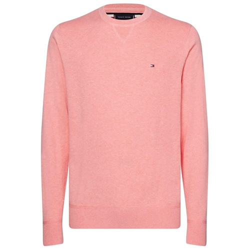Tommy Hilfiger Pink - Fine-Knit Cotton Sweater  - Click to view a larger image