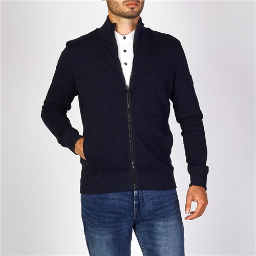 Hugo Boss Dk Blue - Relaxed-Fit Zkybox Jersey Jacket  - Click to view a larger image
