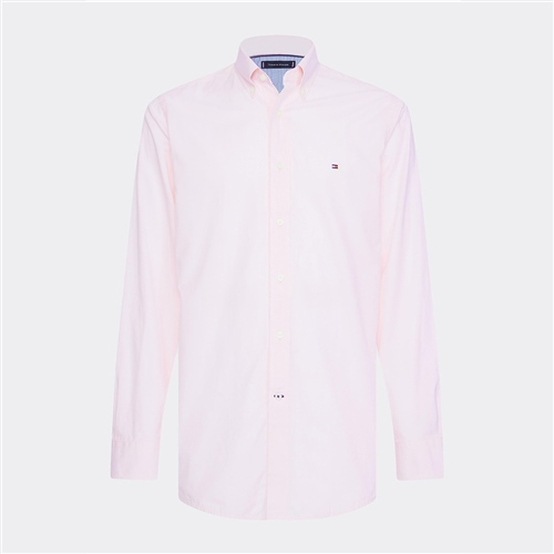 Tommy Hilfiger Pink - Pure Cotton Dobby Shirt  - Click to view a larger image