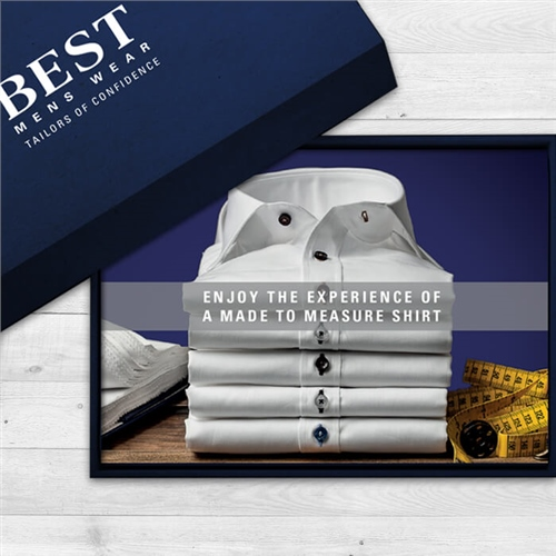 Best Menswear  A Made To Measure Shirt Gift Card   - Click to view a larger image