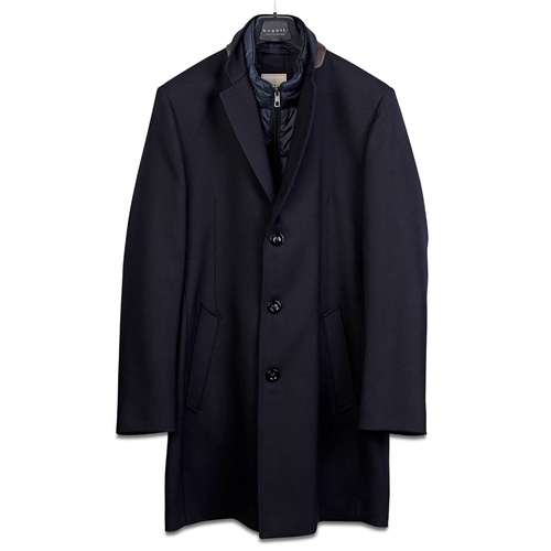 Bugatti Navy - Flexcity Wool Coat  - Click to view a larger image