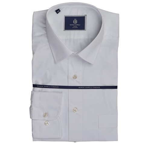 Marco Capelli White - Slim Fit Business Shirt  - Click to view a larger image
