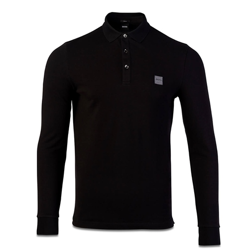 Hugo Boss Black - Passerby Slim Long Sleeve Polo  - Click to view a larger image