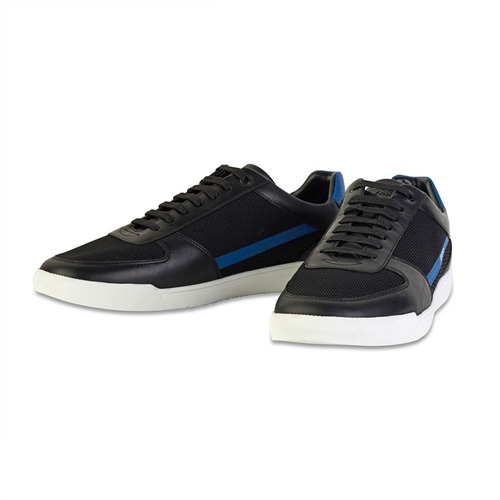 Hugo Boss Black - Cosmopool Leather Mesh Trainers  - Click to view a larger image