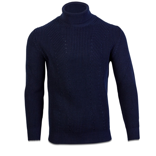 Marco Capelli Navy - Polo Neck Knit  - Click to view a larger image