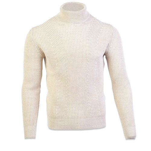 Marco Capelli Oatmeal - Polo Neck Knit  - Click to view a larger image