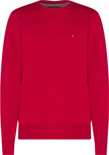 Tommy Hilfiger Red - Pima Cotton Cashmere Crew Neck Jumper  - Click to view a larger image