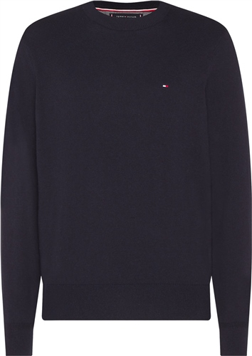 Tommy Hilfiger Navy - Pima Cotton Cashmere Crew Neck Jumper  - Click to view a larger image