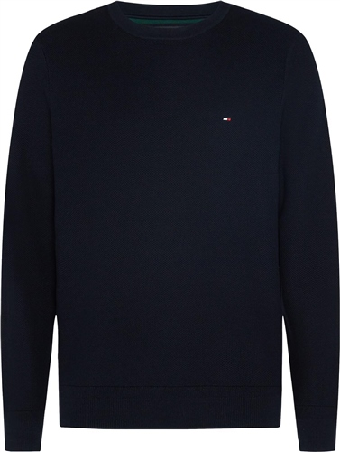 Tommy Hilfiger Navy - Honeycomb Knit Crew Neck Jumper  - Click to view a larger image
