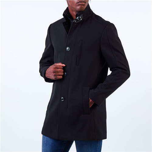 Marco Capelli Black - Fossy Classic Overcoat  - Click to view a larger image