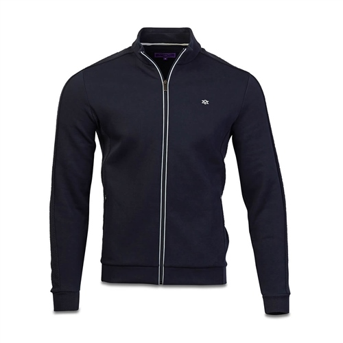 Marco Capelli Navy - Thomas Full Zip Jersey Fleece  - Click to view a larger image