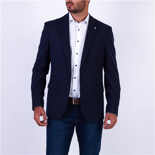 Marco Capelli Navy - Two-Tone Blazer  - Click to view a larger image