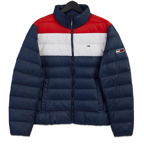 Tommy Jeans Navy - Colorblock Light Down Jacket  - Click to view a larger image