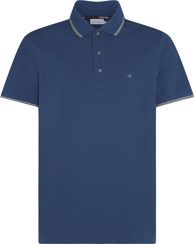 Calvin Klein Denim - Stretch Pique Tipping Polo  - Click to view a larger image