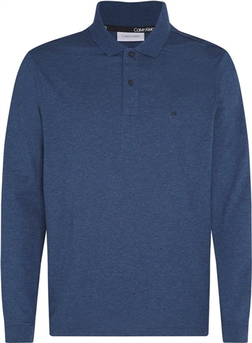 Calvin Klein Dark Denim - Liquid Touch Long Sleeve Polo  - Click to view a larger image