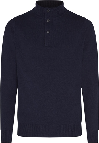 Calvin Klein Navy - Wool Blend Contrast Trim 1/4 Zip  - Click to view a larger image