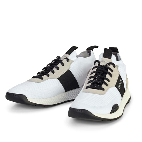 Hugo Boss White - Titanium Running Style Trainers  - Click to view a larger image