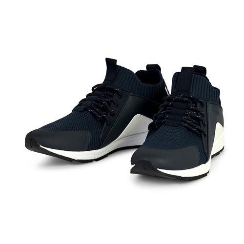 Hugo Boss Navy - Hybrid Knit Runner Trainers  - Click to view a larger image