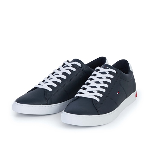 Tommy Hilfiger Navy - Essential Leather Sneaker  - Click to view a larger image