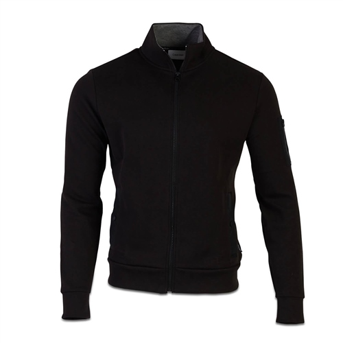 Calvin Klein Black - Techno Jaquard Full Zip Sweat Jacket  - Click to view a larger image