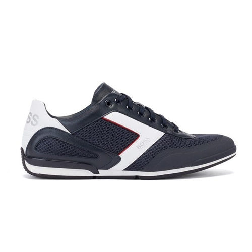 Hugo Boss Navy - Saturn Mesh Low Profile Sneaker  - Click to view a larger image