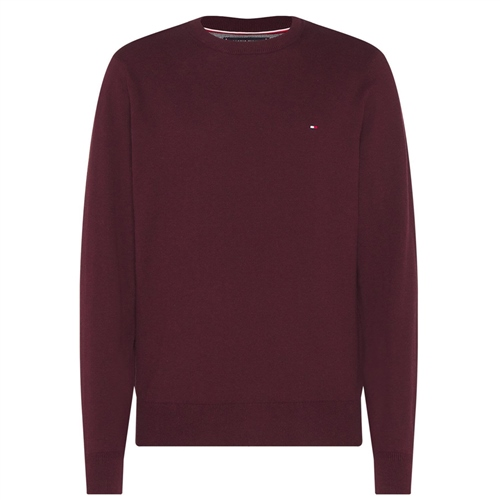 Tommy Hilfiger Burgundy - Pima Cotton Cashmere Crew Neck Knit  - Click to view a larger image