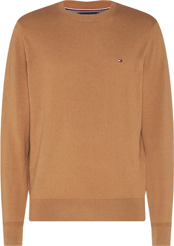 Tommy Hilfiger Oatmeal - Pima Cotton Cashmere Crew Neck Knit  - Click to view a larger image