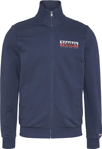 Tommy Jeans Navy - Zip Thru Sweat  - Click to view a larger image