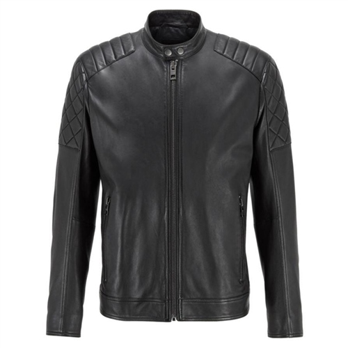 Hugo Boss Black - Jeean Slim Fit Leather Jacket  - Click to view a larger image