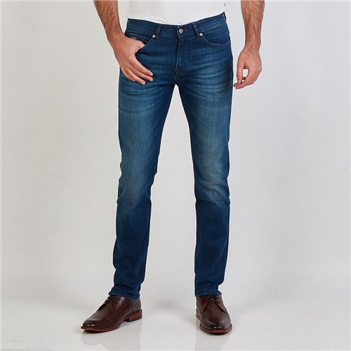 Hugo Boss Navy - Delaware Slim Fit Denim Jeans  - Click to view a larger image