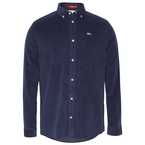 Tommy Jeans Navy - Long Sleeve Corduroy Shirt  - Click to view a larger image