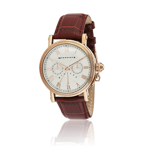 Newbridge Silver Tan - Leather Strap Gents Watch  - Click to view a larger image