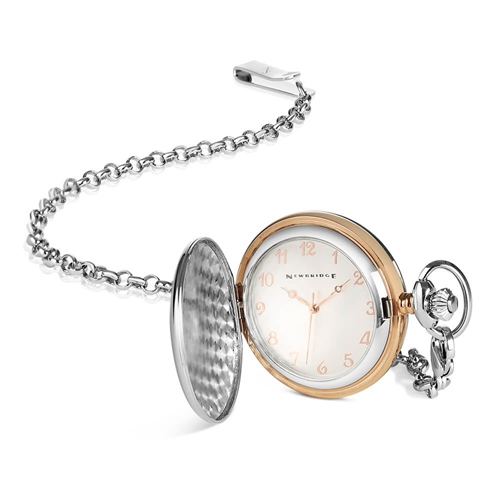 Newbridge Silver Multi - Two Tone Pocket Watch  - Click to view a larger image