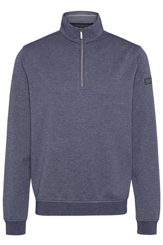 Bugatti Navy - Half Zip Pin Dot Sweatshirt  - Click to view a larger image