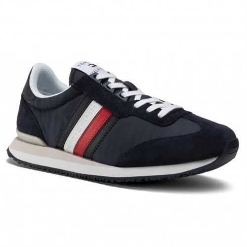 Tommy Hilfiger Navy - Low Iconic Runner  - Click to view a larger image