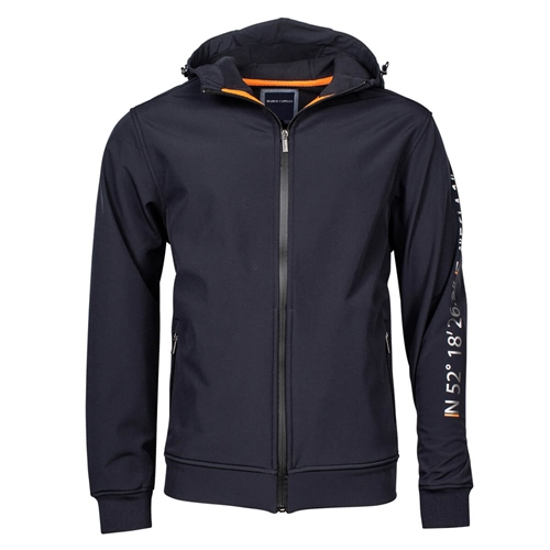 Marco Capelli Navy - Neoprene Hooded Jacket  - Click to view a larger image