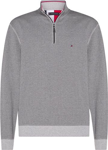 Tommy Hilfiger Grey - Tommy Herringbone Mock Neck Sweatshirt  - Click to view a larger image