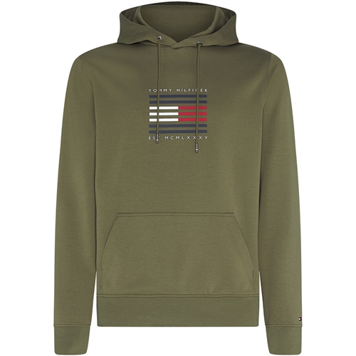 Tommy Hilfiger Olive - Tommy Luxury Hooded Sweatshirt  - Click to view a larger image