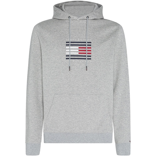 Tommy Hilfiger Grey - Tommy Luxury Hooded Sweatshirt  - Click to view a larger image