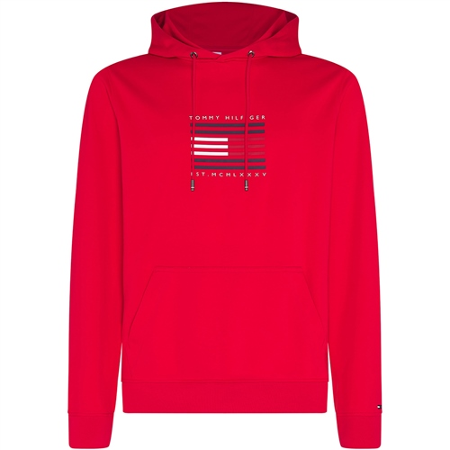 Tommy Hilfiger Red - Tommy Luxury Hooded Sweatshirt  - Click to view a larger image